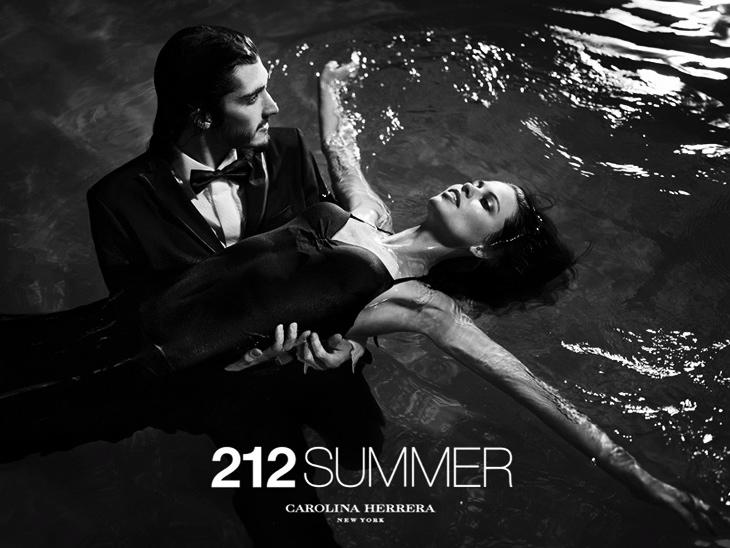 Реклама новых летних ароматов 212 Summer и 212 Men Summer от Carolina Herrera