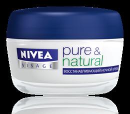 Ночной регенерирующий крем для восстановления кожи во время сна Nivea Pure & Natural Regenerating Night Cream