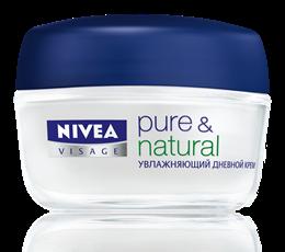 Увлажняющий дневной крем для нормальной и комбинированной кожи Nivea Pure & Natural Moisturising Day Cream