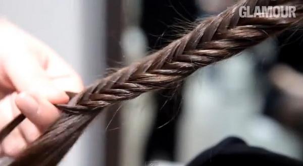 Модные косы из 2 прядей