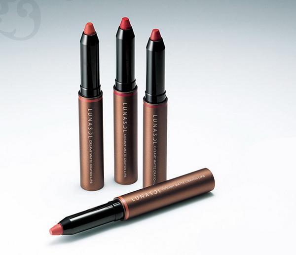 Lunasol-Fall-2014-Makeup-Collection-Creamy-Matte-Crayon-Lips