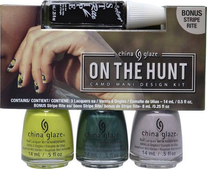 China-Glaze-Fall-2015-The-Great-Outdoors-Collection-On-the-Hunt-Camo-Mani-Design-Kit