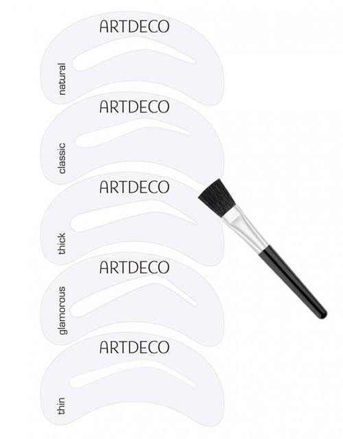 Artdeco-Fall-2015-Eyebrow-Styling-Collection-Eye-Brow-Stencils-with-Brush-Applicator 2