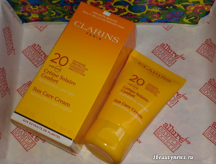 Allurebox-June-6-2016-Review-Clarins-Creme-Solaire-Confort-SPF20