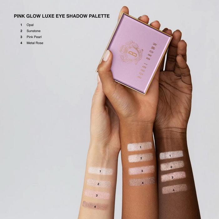Bobbi Brown Pink Glow Luxe Eyeshadow Palette Summer 2021 - Swatches