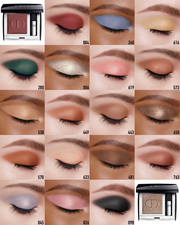 Dior Mono Couleur Couture Eyeshadow 2021 - Swatches