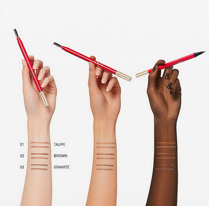 Valentino Beauty Brow Trio Triple Ended Brow Filler - Swatches