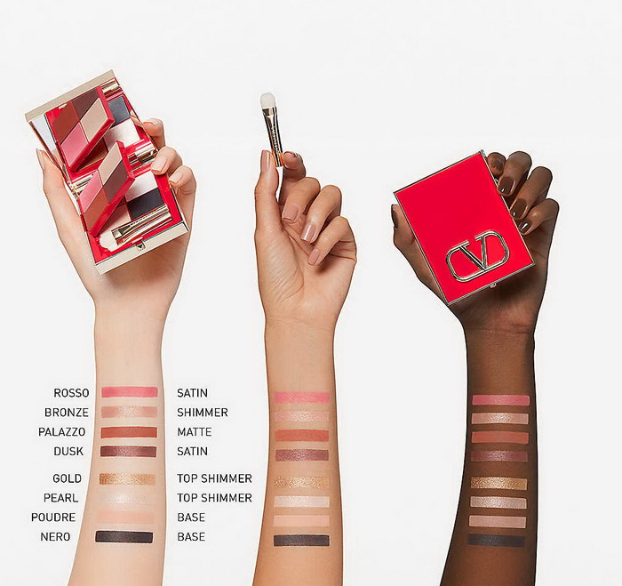 Valentino Beauty Colour Flip 8 Colours Multi-Look Eye Palette - Swatches