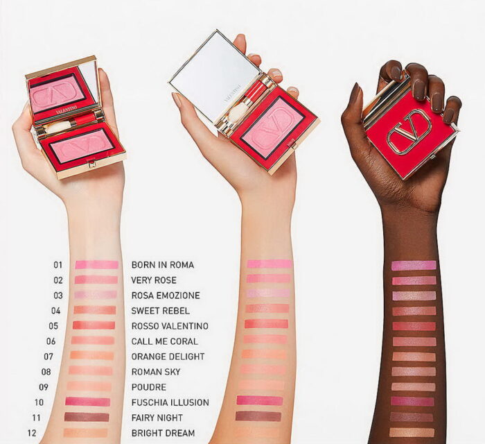 Valentino Beauty Eye2Cheek Dual use Blush and Eyeshadow Palette - Swatches: