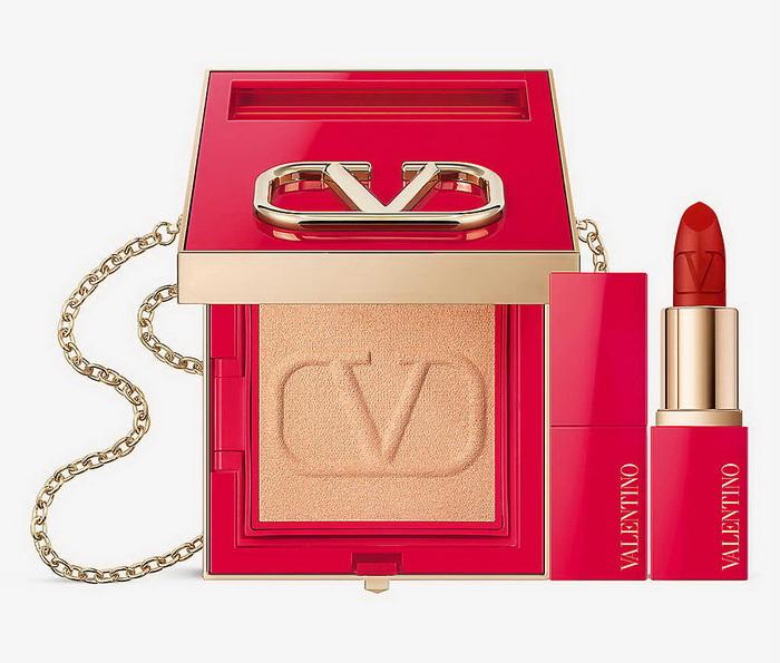 Valentino Beauty Go-Clutch Face Powder and Minirosso Lipstick Bundle