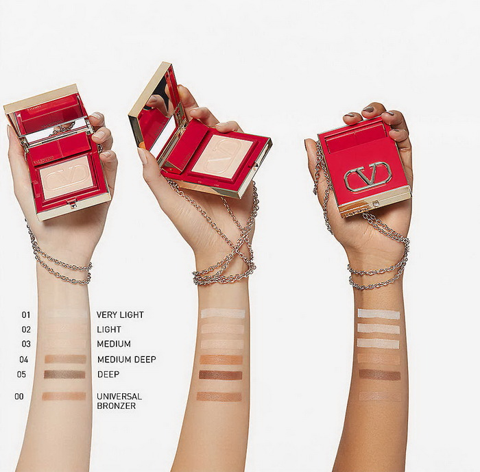 Valentino Beauty Go-Clutch Face Powder - Swatches