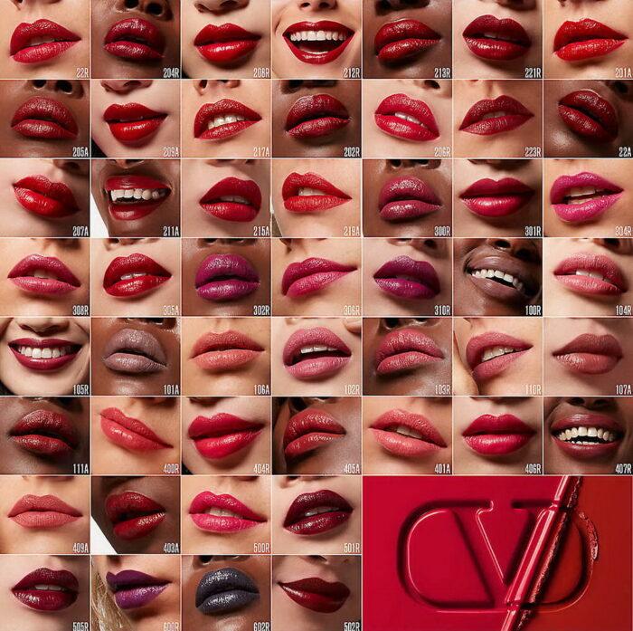 Valentino Beauty Rosso Valentino Satin Lipstick - Swatches
