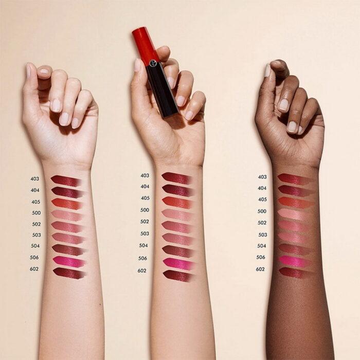 Giorgio Armani Lip Power Lipstick 2021 - Swatches