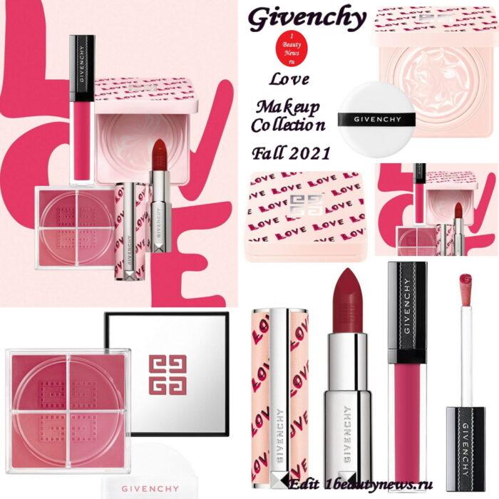 Осенняя коллекция макияжа Givenchy Love Makeup Collection Fall 2021