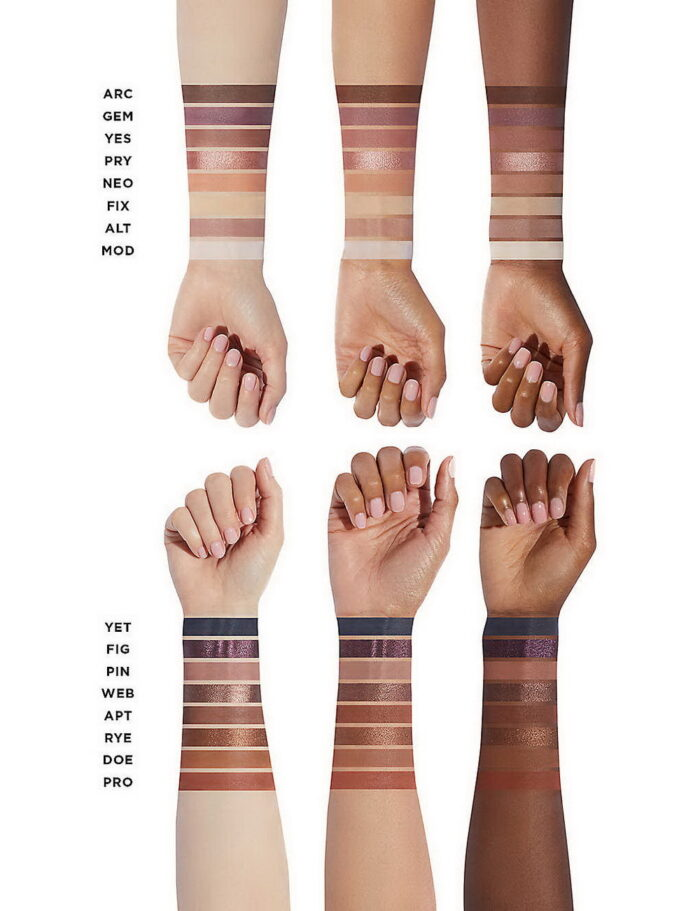Hourglass Curator Eyeshadow Collection 2021 - Swatches