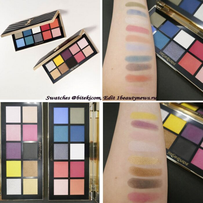 YSL Exclusive Couture Colour Clutch Eyeshadow Palettes 2021 - Swatches