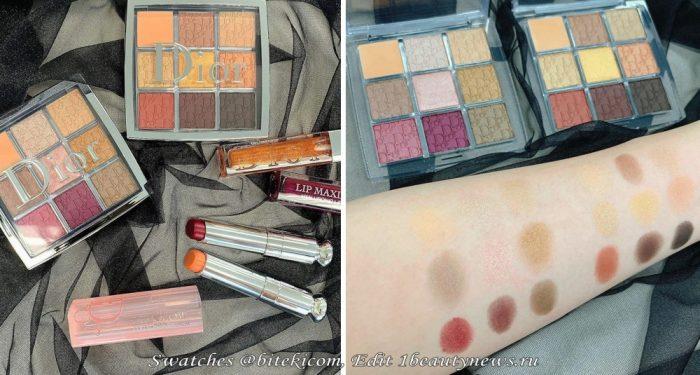 Свотчи новой коллекции макияжа Dior Backstage The Couture Makeup Collection Holiday 2021 - Swatches