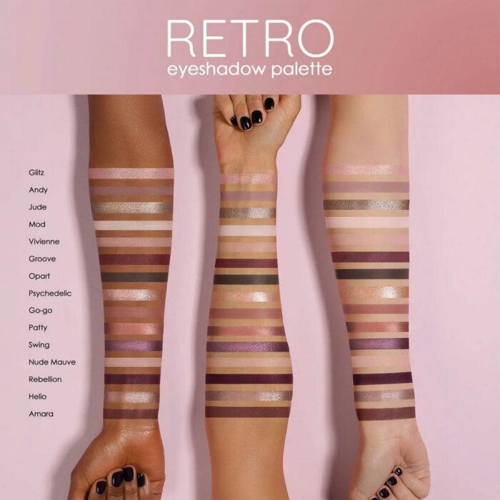 Natasha Denona Retro Eyeshadow Palette 2021 - Swatches