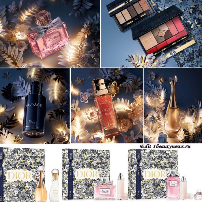 Рождественские подарочные наборы и палетки Dior Gift Sets Christmas Holiday 2021