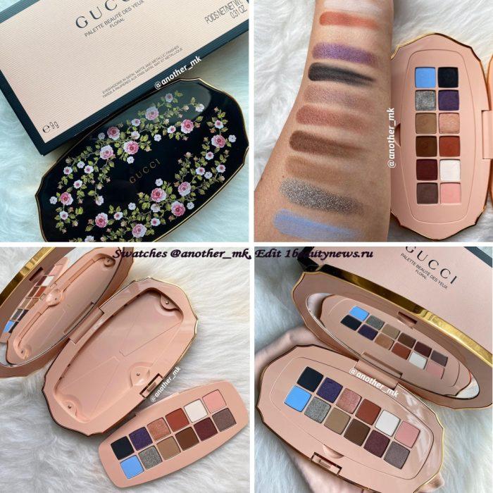 Свотчи новой палетки Gucci Des Yeux Floral Eyeshadow Palette 2021 - Swatches